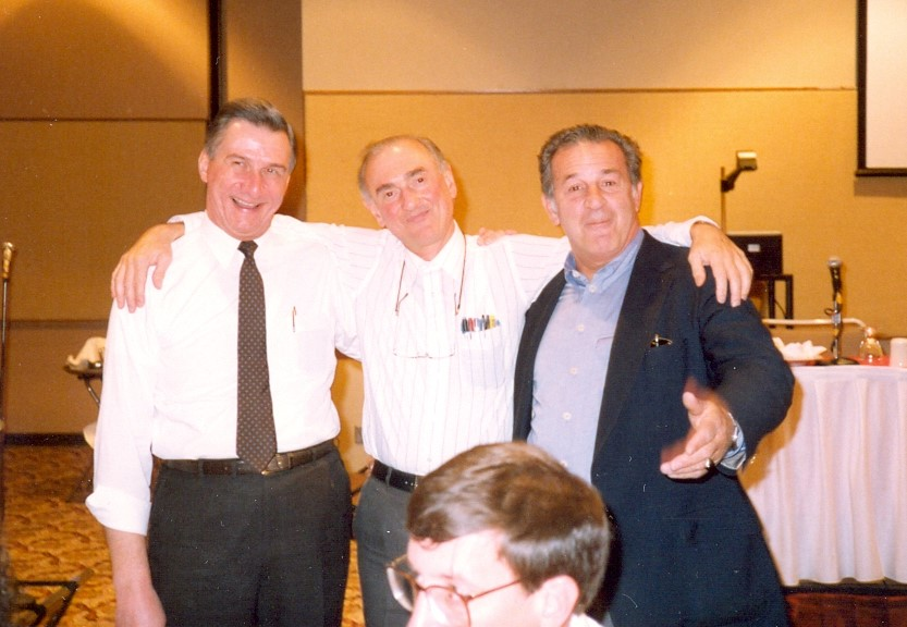 Wolf Wolfensberger, 1990 with Bob Clark (left), and Frank Menolascino (right)